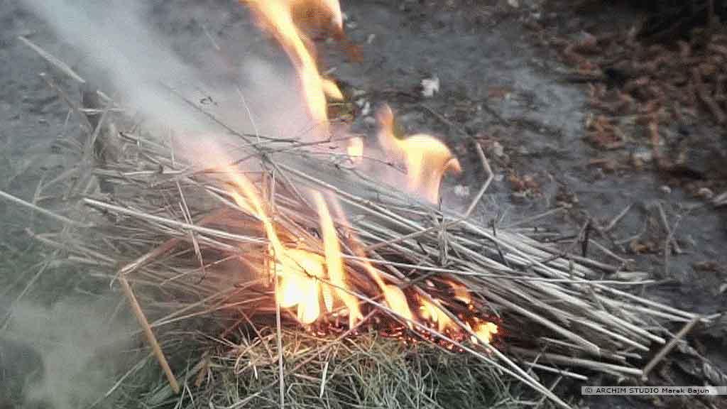 Rozpalanie ognia pompką ogniową