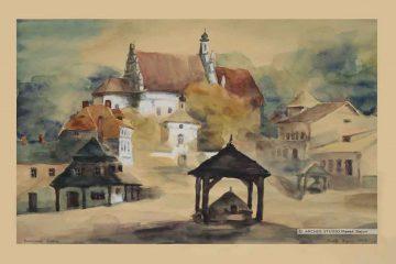 Widok fary w Kazimierzu Dolnym