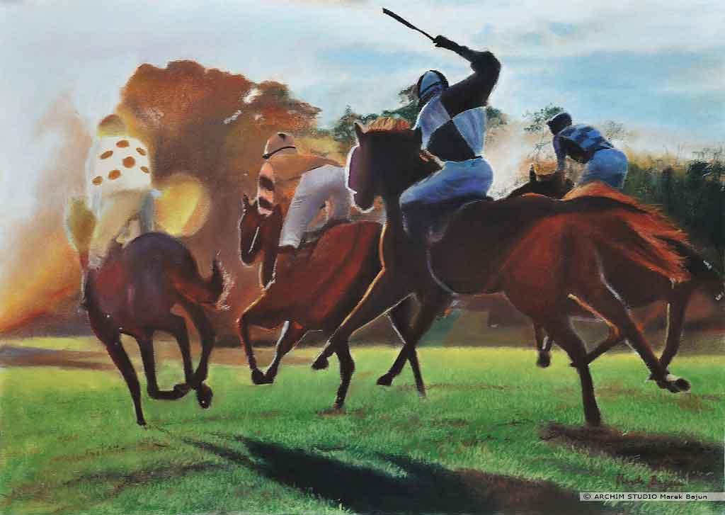 Obraz wyścigi konne