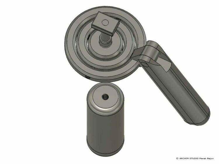 Składany gimbal grawitacyjny