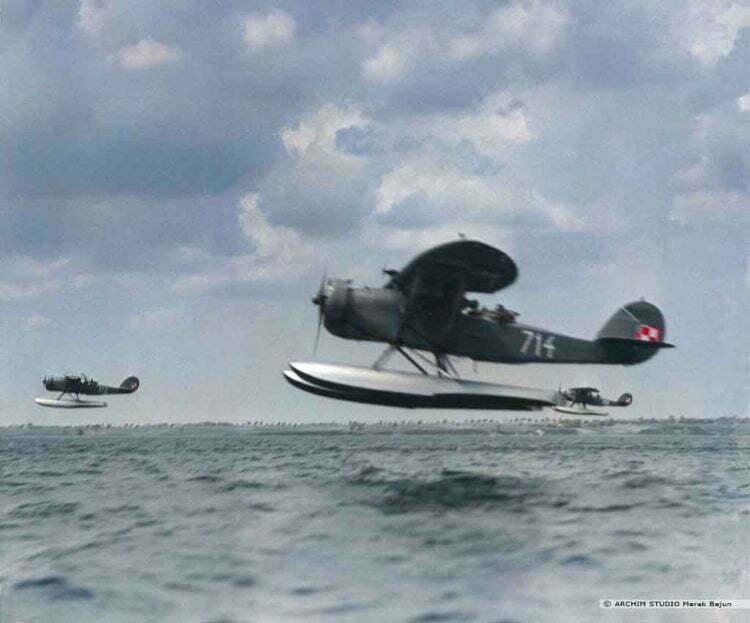 Koloryzowanie fotografii- samoloty Lublin XIII