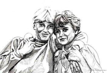 Iwona i Jola- portret piórem