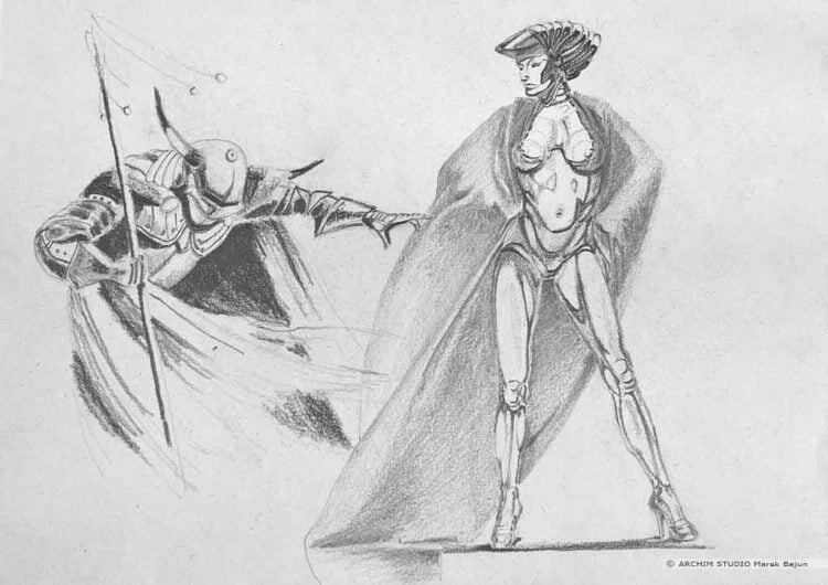 Kopie ilustracji Chrisa Achilleosa