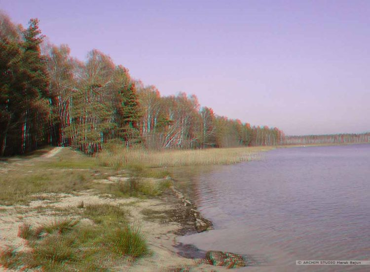 Nad jeziorem- anaglif