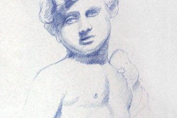 Rysunek rzeźby chłopca