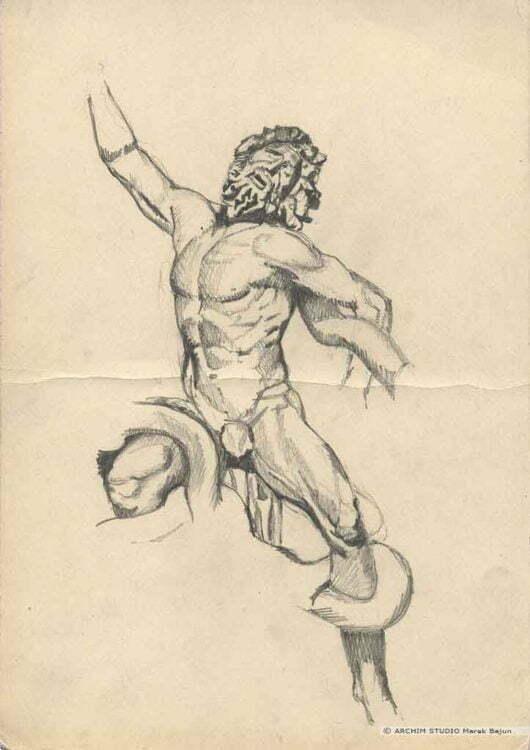 Rysunek rzeźby Laokoon