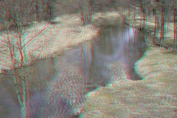 Rzeka- zdjęcie anaglifowe