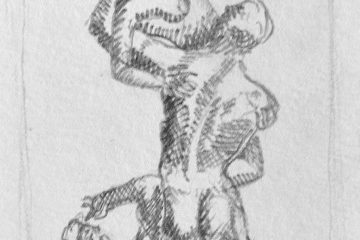 Szkic rzeźby Porwanie Sabinek