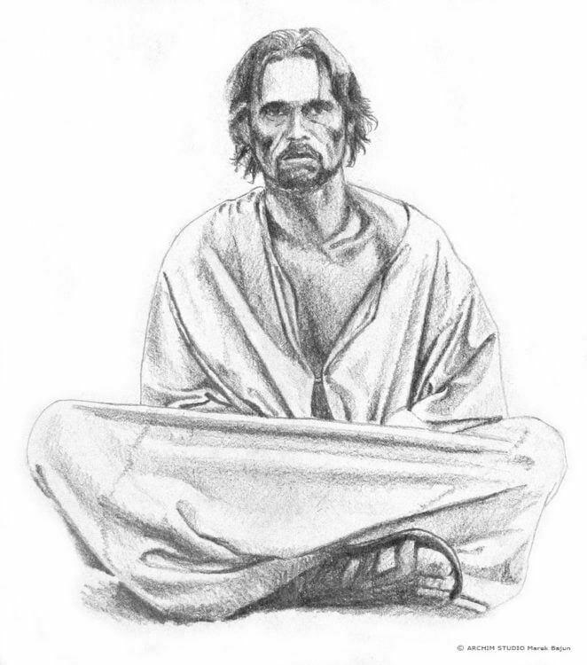 Willem Dafoe- rysunek ołówkiem