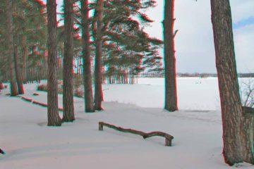 Zima nad zalewem- anaglif